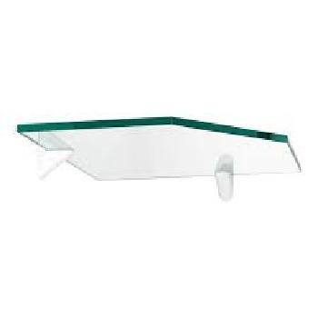 Prateleira de Vidro 25x25cm de Canto Recorte com Suporte Glass - Ref.442025025 - PRATEFIX