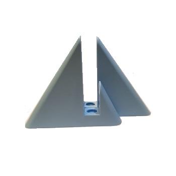 Suporte para Prateleira em PVC 2 Peças Vip Azul - Ref.5002 - PRATEFIX