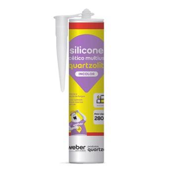 Adesivo Silicone 280g Multiuso Incolor - Ref. 0529.00077.0001PC - QUARTZOLIT