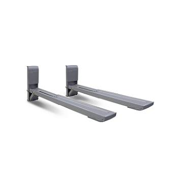 Suporte de Aço para Microondas com Braço Ajustável Prata - Ref.SBR3.7 - BRASFORMA