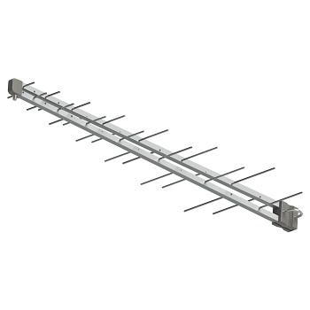 Antena Externa Log de Alumínio 28 Elementos Digital com Cabo Coaxial e Mastro de Fixação - Ref.SL-2800K - BRASFORMA