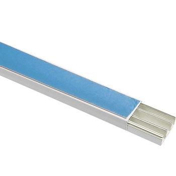 Canaleta PVC 20mmx10mmx2000mm Com Fita Dupla Face Com Divisória Cor Branca - Ref. 57300119 - TRAMONTINA
