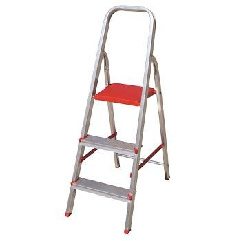Escada Alumínio 3 Degraus Tesoura - Ref. ESC0062 - BOTAFOGO