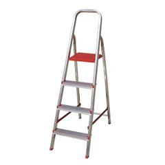 Escada Alumínio 4 Degraus Tesoura - Ref. ESC0063 - BOTAFOGO