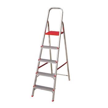 Escada Alumínio 5 Degraus Tesoura - Ref. ESC0064 - BOTAFOGO