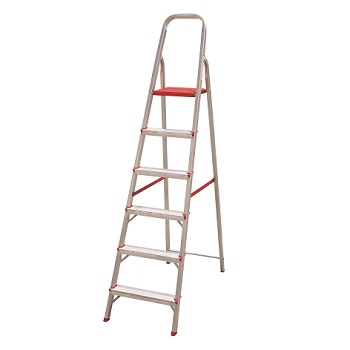 Escada Alumínio 6 Degraus Tesoura - Ref. ESC0065 - BOTAFOGO