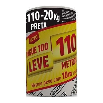 Lona Plástica 4x110m 20KG Preta - Ref.2201 - LONAX