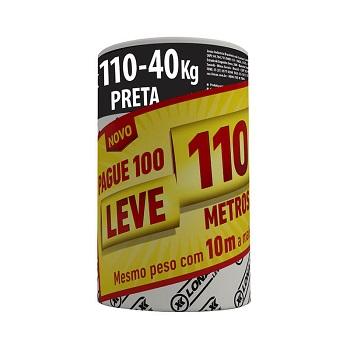 Lona Plástica 4x110m 40kg Preta - Ref.2204 - LONAX