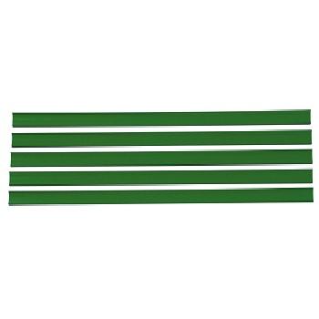 Kit Plástico Porta Etiqueta Gôndola 5 Peças Verde - Ref.KCE500120003 - SA GÔNDOLAS