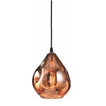 Pendente Rústico em Vidro Ouro Rosa - Ref. DI62197 - DILUX