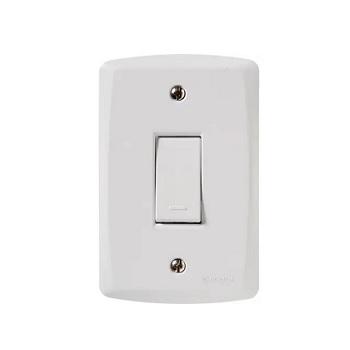 Interruptor 4x2 Simples 10A Lux2 Branco - Ref. 57145/201 - TRAMONTINA