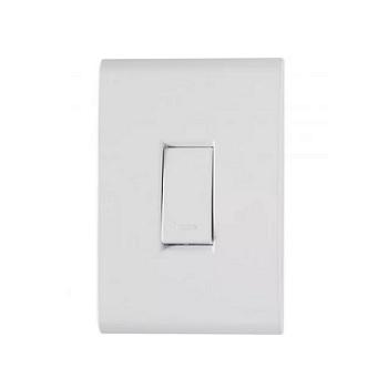 Interruptor 4x2 1 Tecla Simples 10A Liz Branco - Ref.57170/201 - TRAMONTINA