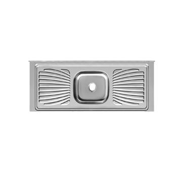Balcão Inox 160x53x11 com 1 Cuba Retangular/Escorredor 430 - Ref.PIM1653C11044 - FORMINOX