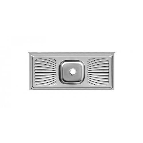 Balcão Inox 200x53x11 com 1 Cuba Retangular/Escorredor 430 - Ref.PIM2053C11044 - FORMINOX