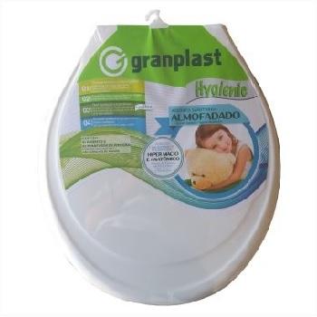 Assento Plástico Almofadado Hygienic Branco - Ref.757 - GRANPLAST