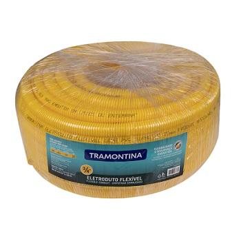 Eletroduto Corrugado PVC 3/4 Leve Amarelo - Ref.57505/002 - TRAMONTINA