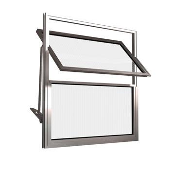 Basculante Alumínio 30x30 2 Folhas Vidro Liso MCJBNTL020 - Ref. EMC010194 - QUALITY