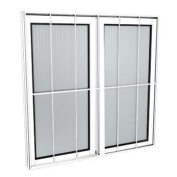 Janela Alumínio 80x80 2 Folhas Com Grade Vidro Liso MCJCNTL016 - Ref. EMC004014 - QUALITY