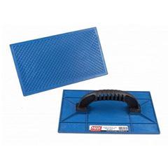 Desempenadeira Plástica 15x26cm Frisada Azul - Ref.28010 - MAX FERRAMENTAS