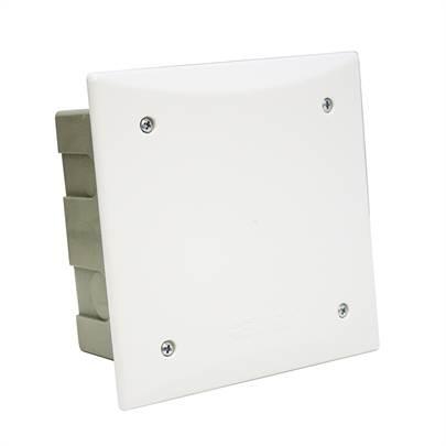 Caixa Passagem PVC 150mm Embutir Quadrada - Ref.911002 - CEMAR
