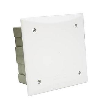 Caixa Passagem PVC 200mm Embutir Quadrada - Ref.911003 - CEMAR