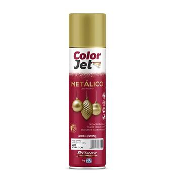 Tinta Spray Metálico 400ml Color Jet Ouro - Ref.1636.80 - TINTAS RENNER