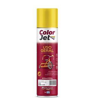 Tinta Spray Uso Geral 400ml Color Jet Preto Fosco Ref.1615.80 - TINTAS RENNER