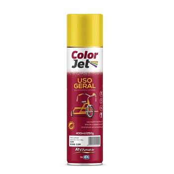 Tinta Spray Uso Geral 400ml Color Jet Preto Brilhante Ref.1604.80 - TINTAS RENNER