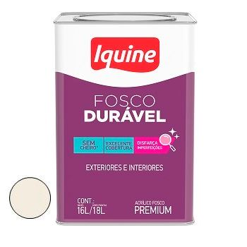Tinta Acrílica Fosca Durável Premium Branco Gelo 18 Litros - Ref. 327300305 - IQUINE