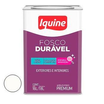 Tinta Acrílica Fosca Durável Premium Branco Luz 18 Litros - Ref. 327319505 - IQUINE