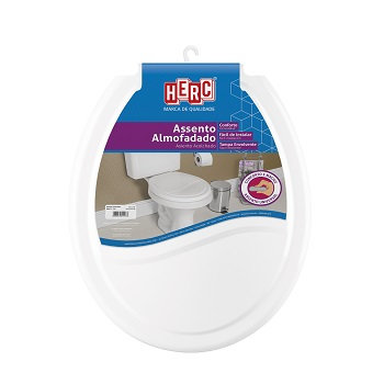Assento Plástico Universal Almofadado Branco - Ref. 2385 - HERC