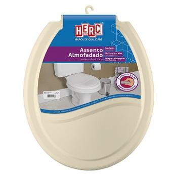 Assento Plástico Universal Almofadado Bege - Ref. 2388 - HERC