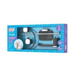 Kit Acessórios para Banheiro ABS 5 Pecas Tivoli Peto e Cromado - Ref. 5042 - HERC