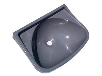 Lavatório Plástico 36x26x13cm Cinza - Ref.4323 - LUCONI