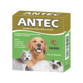 Vermifugo Antec Com 4 Comprimidos - PA0004 - CALBOS