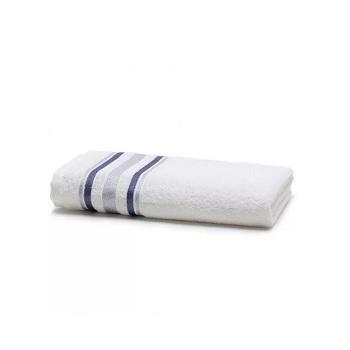 Toalha de Banho em Algodão 70x135cm Prata Serena Branco - Ref.SANPRTBAJSER0001 - SANTISTA