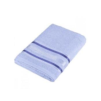Toalha de Banho em Algodão 70x135cm Prata Serena Azul - Ref.SANPRTBAJSER6097 - SANTISTA