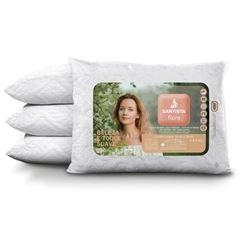 Travesseiro 50x70cm Flora - Ref.FLORATRAMUNICO - SANTISTA