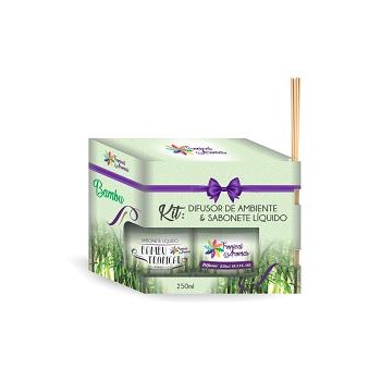 Kit Difusor+Sabonete Líquido 250ml Bambu - Ref.006111 - TROPICAL AROMAS