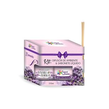 Kit Difusor+Sabonete Líquido 250ml Lavanda - Ref.006106 - TROPICAL AROMAS