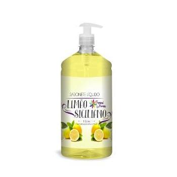 Sabonete Líquido 1 Litro com Válvula Limão Siciliano - Ref.005869 - TROPICAL AROMAS