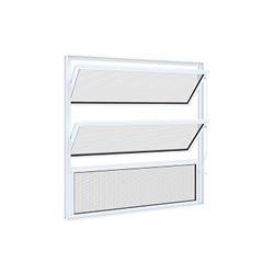 Basculante de Alumínio 3 Folhas Vidro Mini Boreal 60x60cm Branco - Ref.9416.0 - RIOBRAS