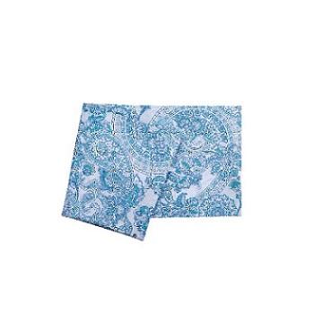 Toalha de Mesa Algodão 160x160cm Quadrada Home Design Luana Azul - Ref.SAHDMTMQM1LUANA - SANTISTA
