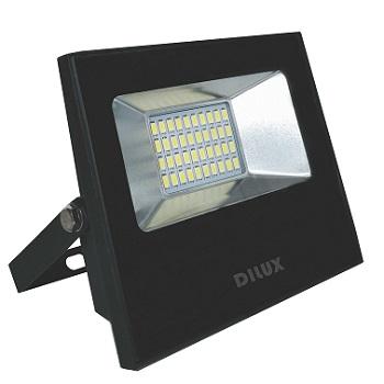 Refletor LED20W Bivolt Branco Frio 6500K Preto - Ref. DI61626 - DILUX