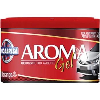 Aromatizante em Gel 60g Morango - Ref. 12538 - RODABRISAAromatizante em Gel 60g Morango - Ref. 12538 - RODABRISA