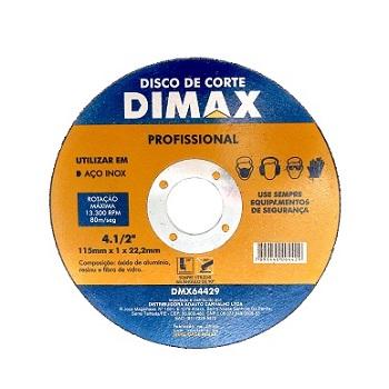 Disco de Corte para Aço Inox de 4.1/2 Pol. - Ref. DMX64429 - DIMAX