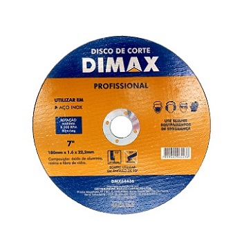 Disco de Corte para Aço Inox de 7 Pol. - Ref. DMX64436 - DIMAX