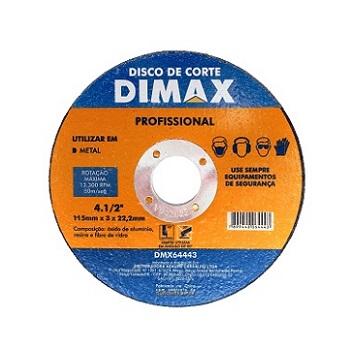 Disco de Corte para Metal 4.1/2 Pol. - Ref. DMX64443 - DIMAX