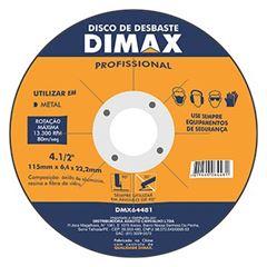 Disco de Desbaste de 4.1/2 Pol. para Metal - Ref. DMX64481 - DIMAX
