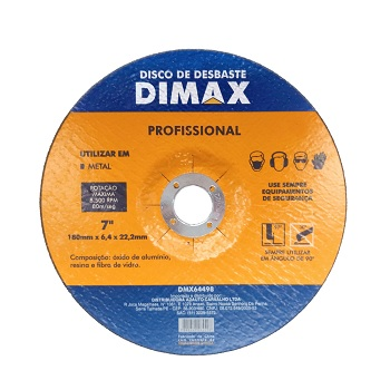 Disco de Desbaste de 7 Pol. para Metal - Ref. DMX64498 - DIMAX